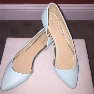 Express mint green flats in size 7